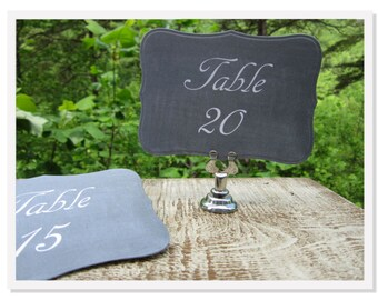 Wedding Chalkboard Table Numbers, Blackboard Table Numbers, Country Wedding Table Numbers, Chalkboard Table Number Cards