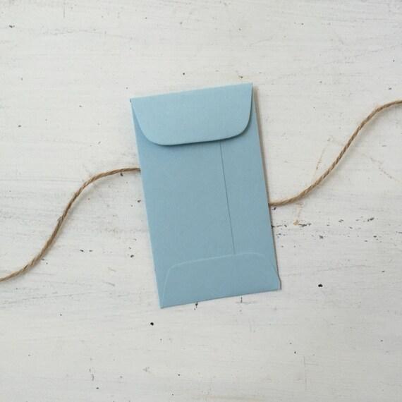 100 light blue envelopes with flap coin escort envelopes etsy