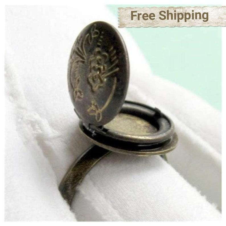 SALE Novelty Ring Poison Ring Poison Locket Ring Novelty image 0