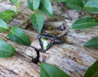 Glitter Galaxy Ring #14 (13mm triangle) (Size 10)