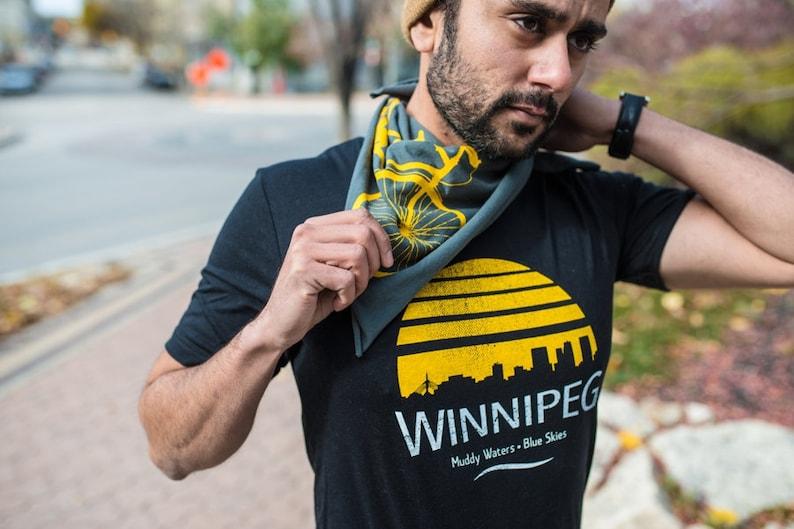 Winnipeg T-shirt Muddy Waters Blue Skies Mens Unisex image 0