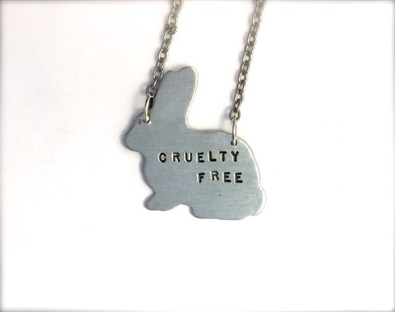 Cruelty Free  Bunny Necklace-Vegan Jewelry-Recycled Metals-Customizable