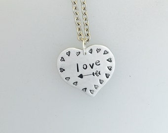 Love necklace-Valentine's Necklace-Anniversary-Romance-Wedding-Gift-Heart Necklace-Birthday-Vegan Necklace-Birthday-Love-Mother's Day