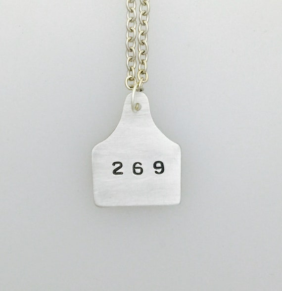 269 Ear Tag Necklace-269Life-Vegan Necklace-Vegan Jewelry-Animal Rights-Vegan Gift-269 ear tag necklace-Animal Activism-
