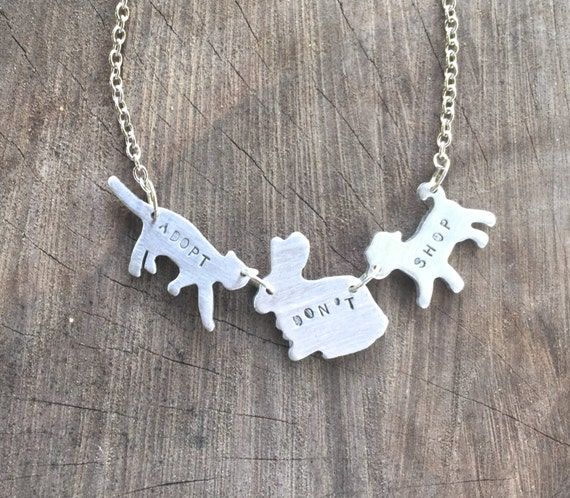 Vegan Necklace-Vegan Jewelry- Adopt Don't Shop Companion Animal Eco Friendly -Mother's Day Necklace