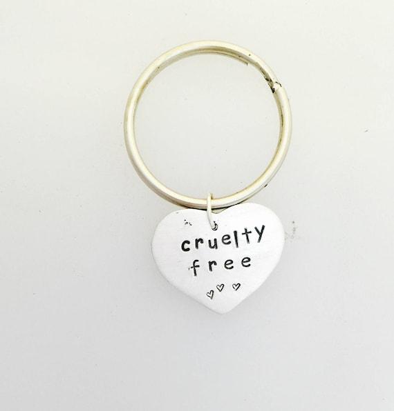 Cruelty Free Rabbit Keychain-Vegan Gift-Rabbit Keychain-Vegan jewelry-Birthday-Vegan Keychain-Gift-animal lover gift-vegetarian gift