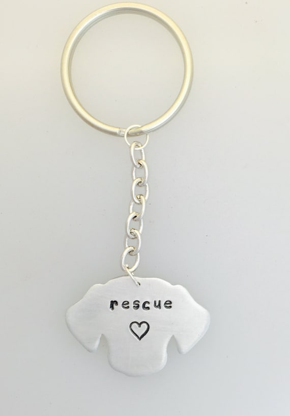 Rescue Dog head keychain-dog lover-gift rescue-adopt don't shop-birthday-dogs-anniversary-vegan gift
