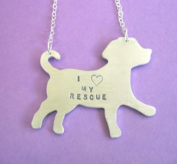 Mutt Necklace-I Heart my Rescue Puppy-Vegan Necklace-Dog Lover-Rescue Dog-Labrador Retriever-Gift-Birthday-Eco Friendly-Personalized