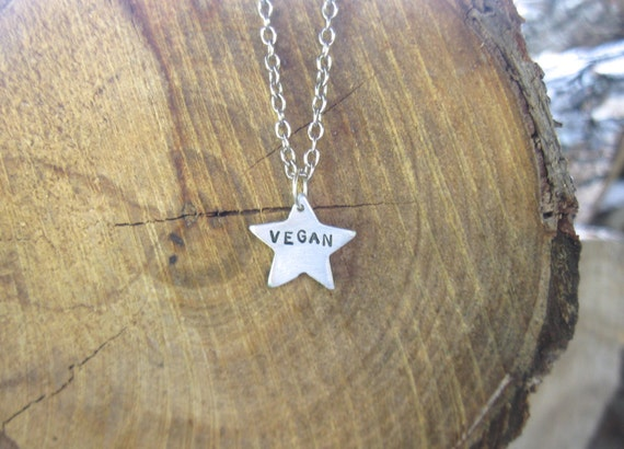 You are a Vegan Star Charm Necklace