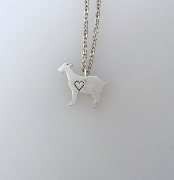 New-Goat with Heart Necklace-Vegan Necklace-Vegan Jewelry-Goat Jewelry-Rescue Goats-Farm Animal Sanctuary-Eco Friendly