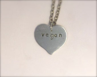 Vegan Anniversary Necklace-Heart Necklace-Gift-Anniversary-Vegan Necklace-Valentine's Gift-Eco Friendly-Personalized-Valentines