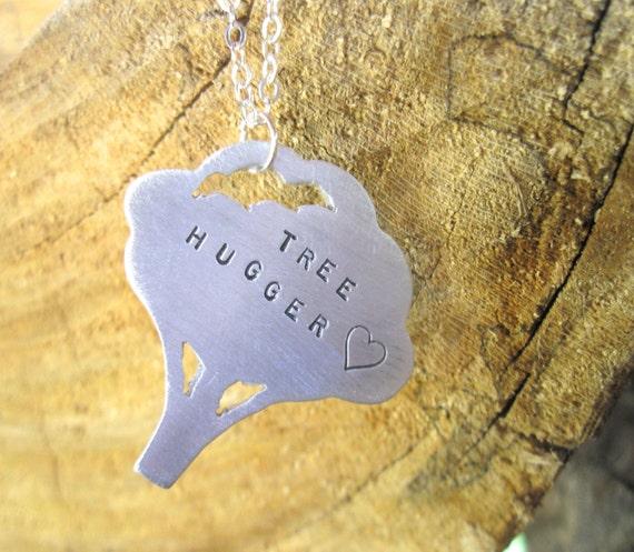 Tree Hugger Necklace-Vegan Necklace-Gift-Birthday-Anniversary-Wedding-Eco Friendly-Tree Lover-Eco Warrior-Vegan Jewelry