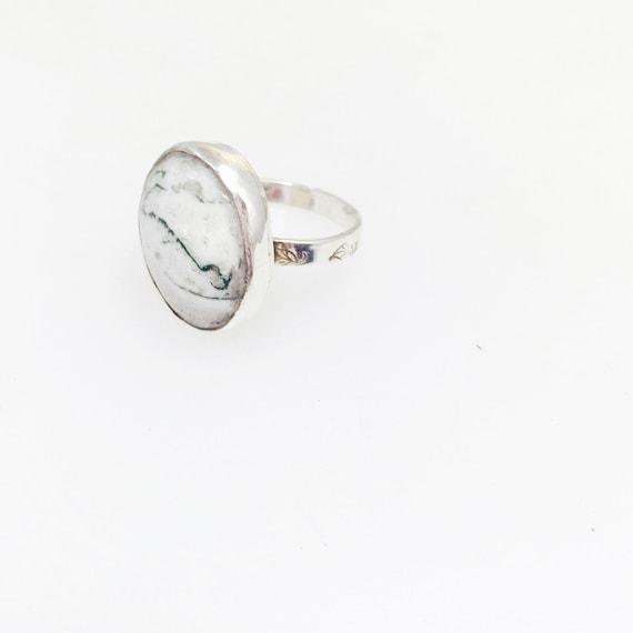 Green Moss Agate Ring-Handmade ring-Vegan Ring-Gemstone Ring-OOAK ring-OOAK-Vegan Jewelry- Birthday gift-Handmade jewelry-Anniversary