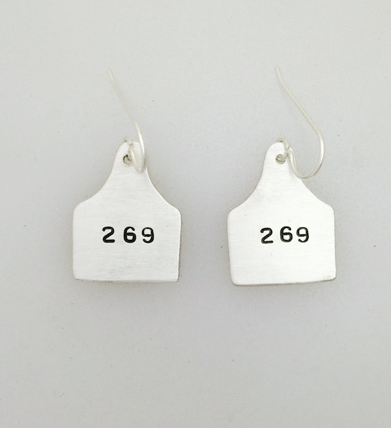 269 Ear Tag Earrings-269 Life-269 Calf-vegan Earrings- Vegan Jewelry-Ear Tag Earrings-Cow Ear Tag earrings-animal rights-Animal Liberation