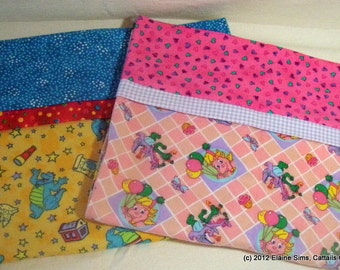 Toddler or Travel Size Flannel Pillowcases