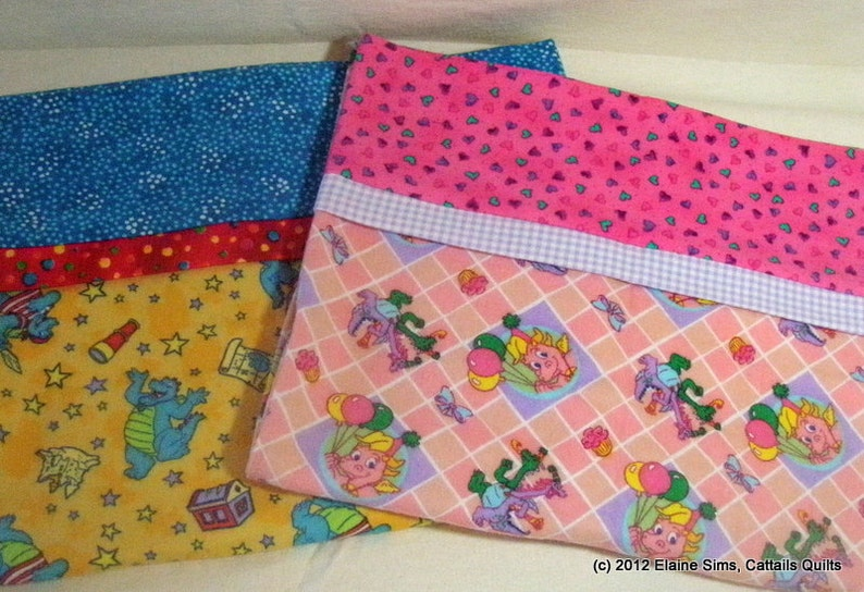 Toddler or Travel Size Flannel Pillowcases image 0