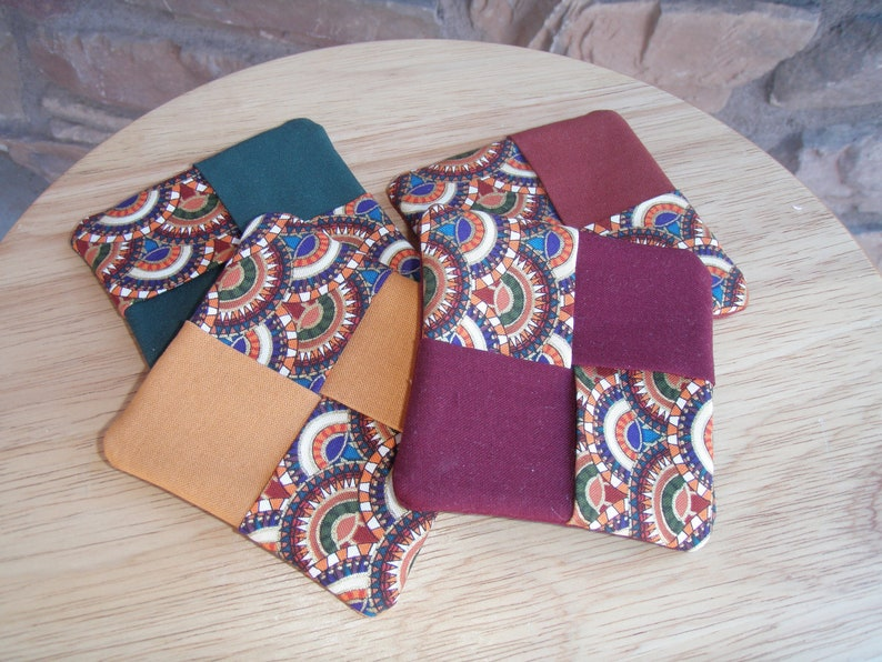 Set of 4 Quilted Cotton Coasters image 0