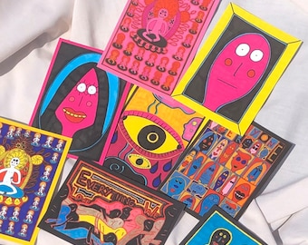 Postcards (set of 8) by Jay Snelling Art - Figures