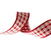 Farm Plaid Ribbon in Red
