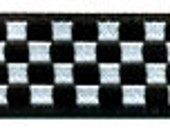 Checkers Ribbon in Black and White
