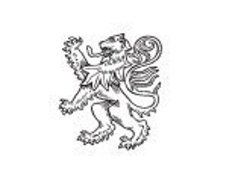 Lion Rampant  Heraldry Inchie 285