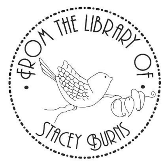 Personalized Bookplate Ex Libris Bird On A Branch Original Art