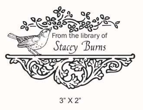 Sparrow  Rubber Stamp