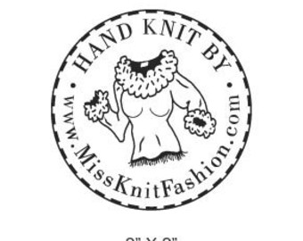 Sweater Hand Knit By Custom Rubber Stamp AD123