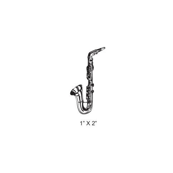 Saxophone Rubber Stamp Woodwind Musical Instrument Series