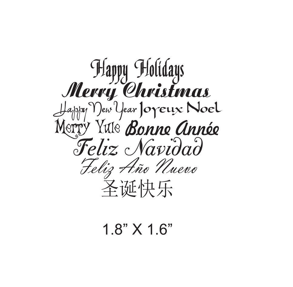 Merry Christmas Yule Happy New Year in 4 Languages Tag   Etsy