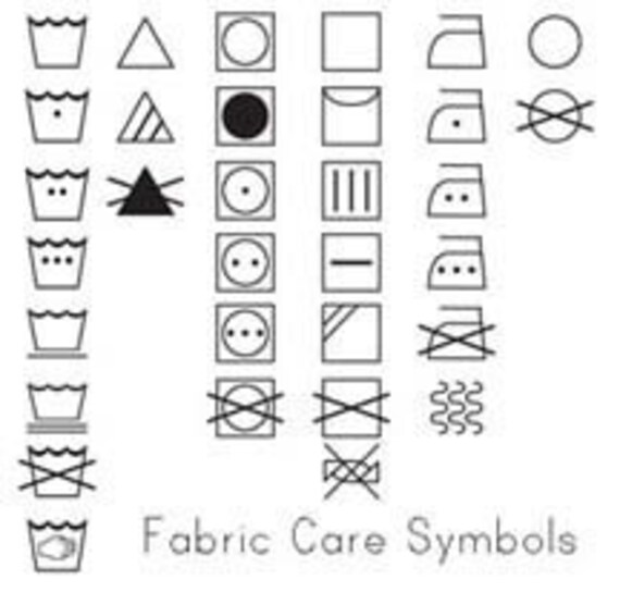 Fabric Or Garment Care Label Custom Rubber Stamp For Your Etsy