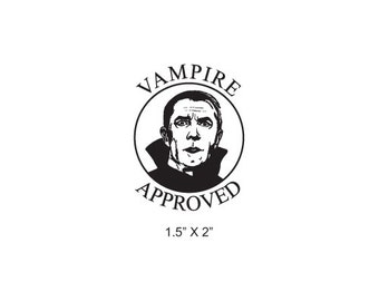 Vampire Approved Rubber Stamp 466