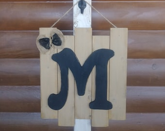 Handcrafted Wooden Personalized Letter Sign~ Door/Wall Hanger/ Home Decor/Handpainted~Free US Ship~