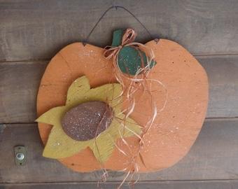 Fall  Pumpkin~Seasonal~Thanksgiving Home Decor~Door/Wall Hanger