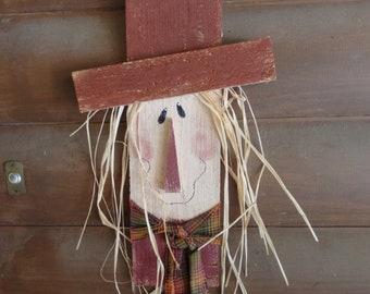 Handcrafted Wooden Cedar Picket Scarecrow Door/Wall Hanger/Fall/Seasonal Home Decor/Handpainted