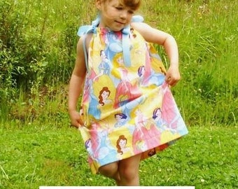 Disney Princess Pillowcase Dress Girls 12 mos 18 mos 2T 3T 4 5 6