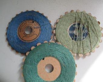 Vintage StarTwist Mercerized Cotton Thread, 3 in Lot