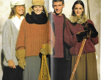 05b415fc67 Mohair TRIO Pullovers and Cardigan - PDF pattern download - Unisex sizes -  Small