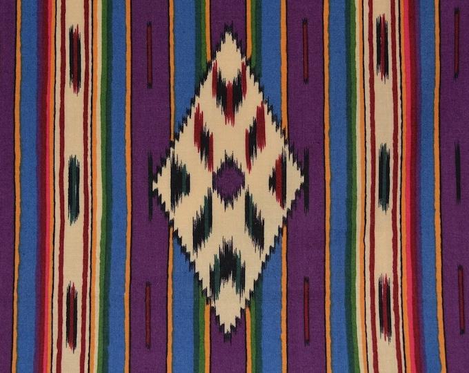 Southwest fabric purple stripe fabric Navajo fabric Alexander Henry