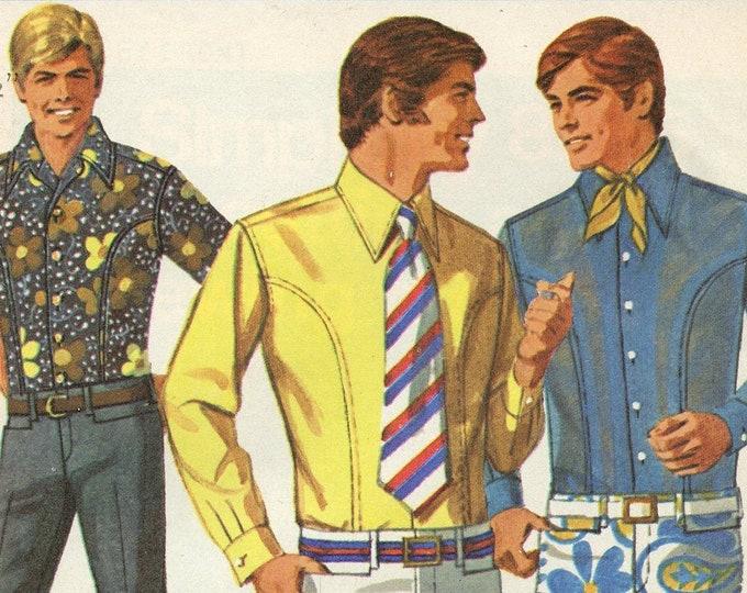 Mens Simplicity pattern 8255, bell bottom hip hugger pants and body shirt