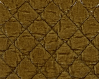 Bella Notte Rayon Silk velvet quilted fabric remnants