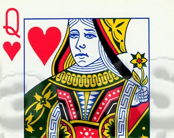 Queen of Hearts card digital JPG and PNG file
