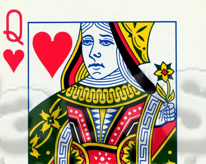 Queen of Hearts card digital JPG PDF tif PNG file