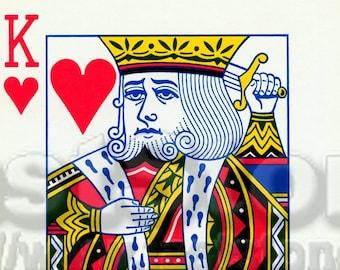 Digital downloadable, King of Hearts, JPG and PNG, printable file