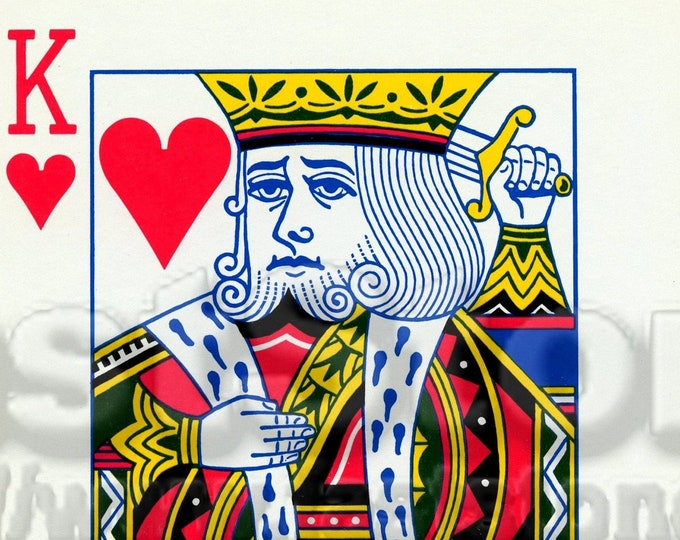 Digital downloadable, King of Hearts, JPG and PNG, printable file