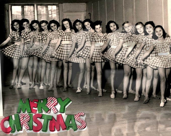 Downloadable photo Humorous Christmas of 1960s ballet class