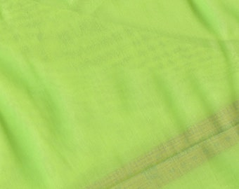 Swiss Organdy cotton fabric lime green US seller