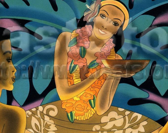 Downloadable, Hawaiian luau digital files, JPG TIF PNG Adobe pdf for note cards, invitation