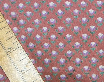 Vintage Habotai silk fabric by the yard tiny floral silk for sewing habotai silk scarves for women silk blouse stylized floral