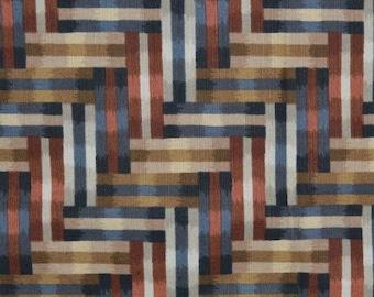 Geometric upholstery fabric, Escher style Glenn Peckman